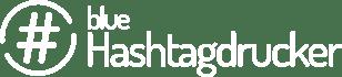 blue Hashtagdrucker Logo