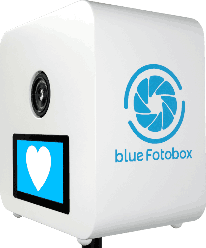 blue Fotobox mit Blitz