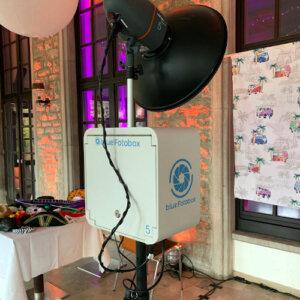 blue Fotobox im Hotel Cavallestro